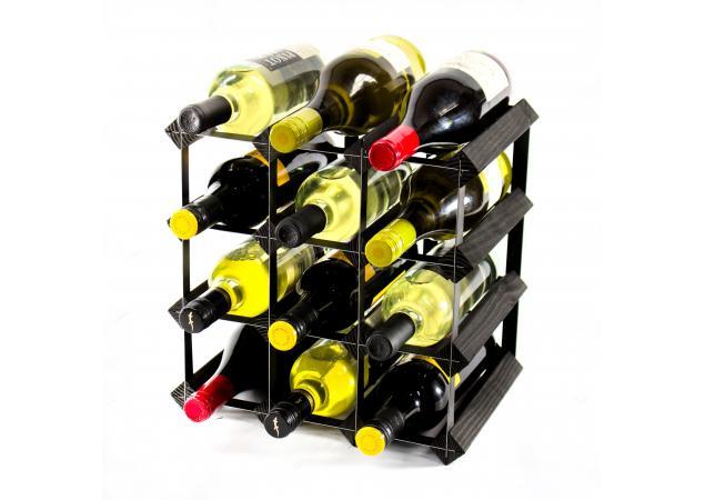 Classic 12 bottle wine rack ready assembled image