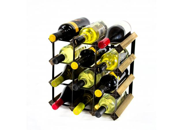 Classic 12 bottle wine rack ready assembled image