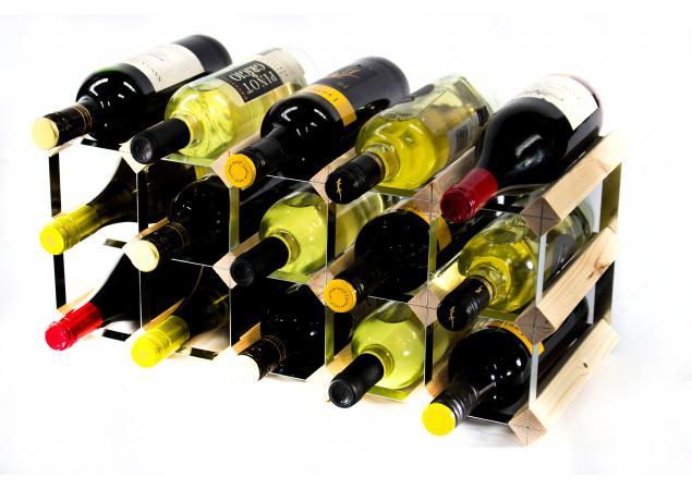 Classic 15 bottle wine rack self assembly image