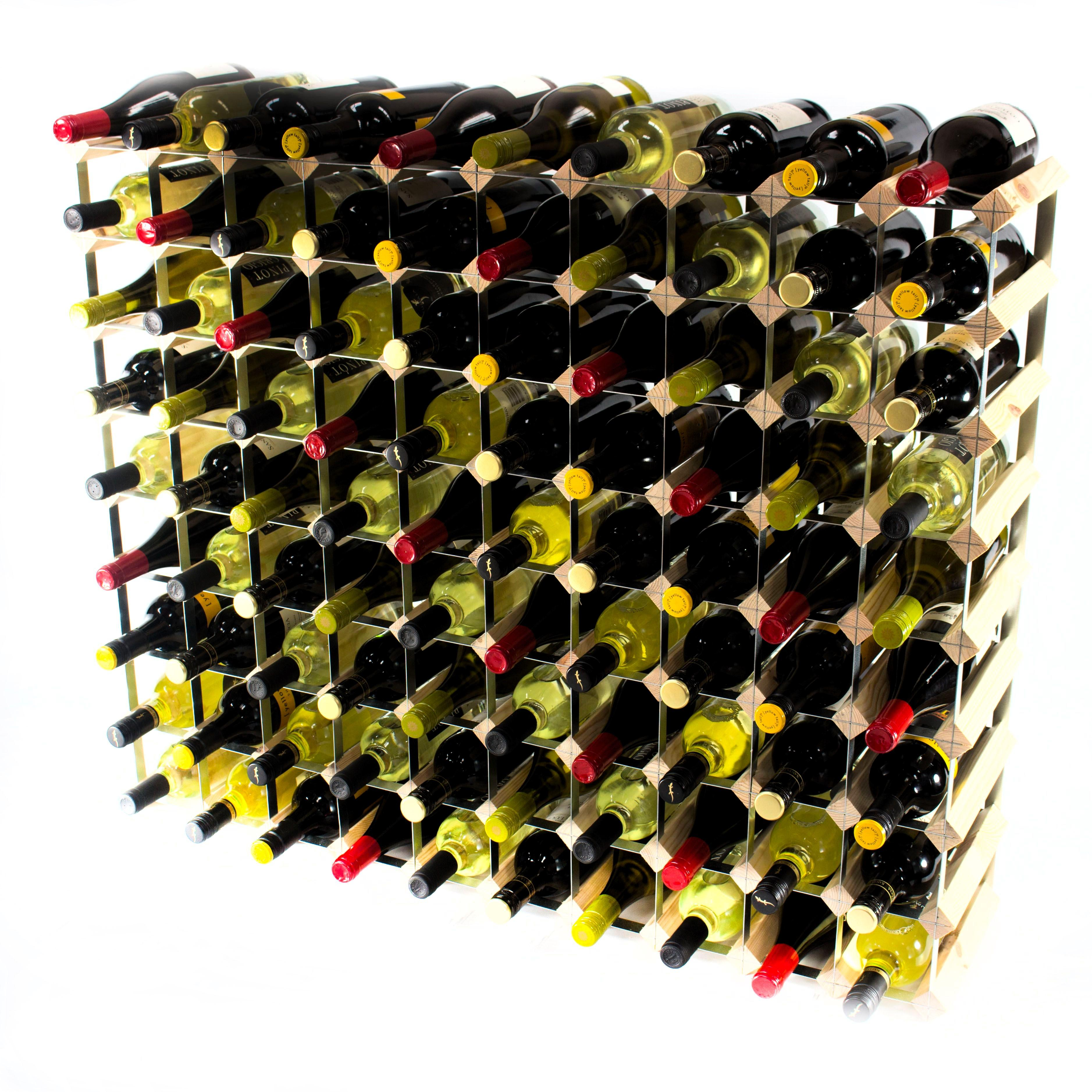 Classic 90 Bottle Wine Rack Self Assembly Cranville