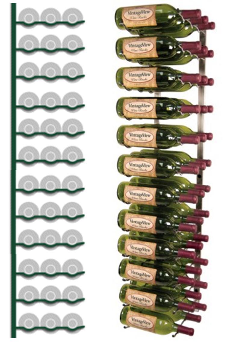 wall mounted wine rack 36 bottles image