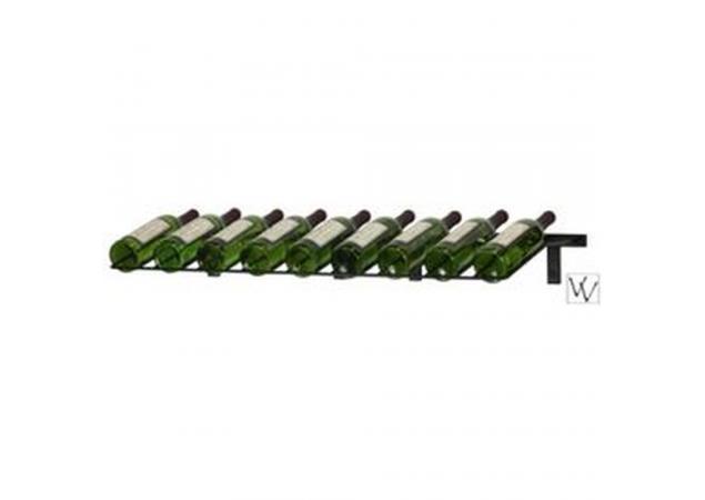 Wall Mounted Presentation Wine Rack Nine Bottles image