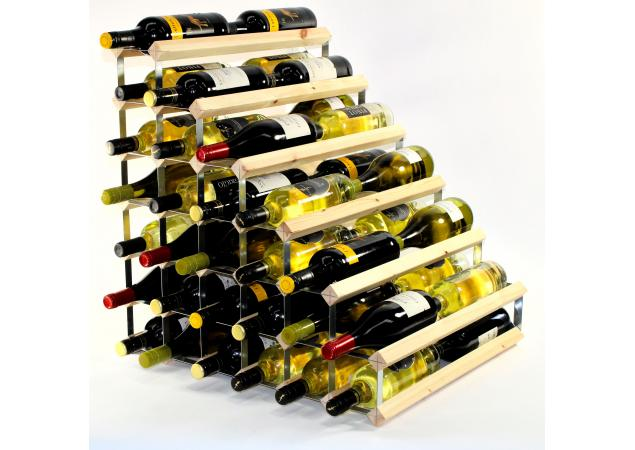 Double depth 54 bottle understairs wine rack image