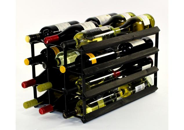 Double depth 24 bottle wine rack image