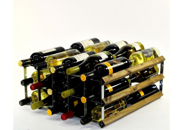 Double depth 30 bottle wine rack image