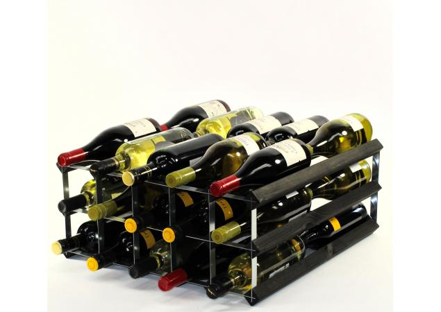 Double depth 30 bottle wine rack image