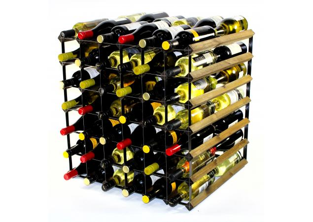 Double depth 60 bottle wine rack image