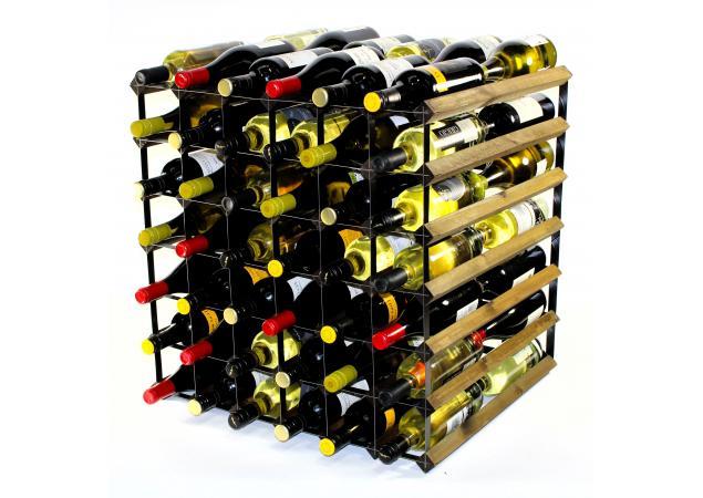 Double depth 60 bottle wine rack image